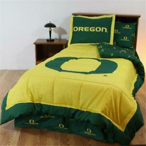 College Covers Orebbqu Oregon Bed In A Bag Queen With Team Colored Sheets