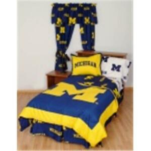 Comfy Feet Micbbkg Michigan Bed In A Bag King With Team Colored Sheets