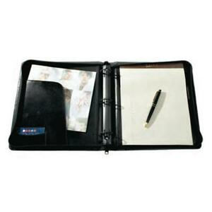 Raika Ni 137 Blk 3 Ring Zipper Binder Black