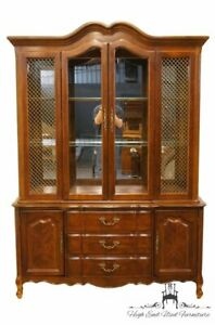 Bernhardt Furniture 57 French Provincial Lighted China Cabinet