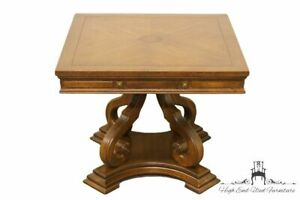 Gordon S Furniture Italian Neoclassical 26 Square Bookmatched Accent Table