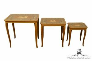 Italian Imported Exquisite Hand Inlaid Nesting Tables
