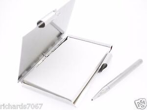 Memo Pad Towle Silverplate Engraveable Holder Case Pencil Executive Gift Mirror