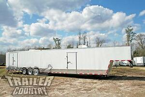 New 2020 8 5x48 8 5 X 48 Enclosed Gooseneck Cargo Car Hauler Toy Trailer Loaded