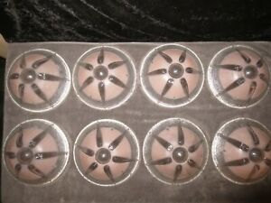 8 Vtg 3 Chain Ceiling Light Fixture Shade Glass Art Deco Starburst Sun Flower