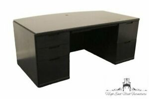 Kimball International 72 Black Bow Front Executive Desk
