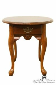 High End Cherry Queen Anne 21 End Lamp Table