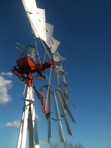 6ft Aermotor X 702 Rebuilt Windmill With New 33ft Tower