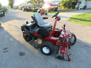 Toro 3250d Greensmaster Diesel Greens Tee Reel Lawn Mower W Baskets 04383