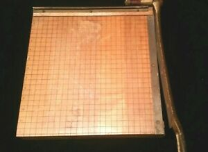 Vintage Ingento No 4 Wood And Cast Metal Paper Cutter 12 X 12 Works Well