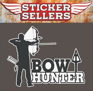 Bow Hunter Archery Arrow Deer Hunting Vinyl Decal Window Sticker Car Truck