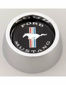 Grant Products 5847 Horn Button Alum Chrome Mustang Running Horse Logo For Class
