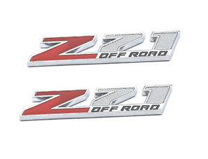 2pcs Small Size Z71 Off Road Emblems 3d Aolly Decal Badge For Gmc Chevy