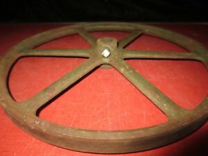 Vtg Antique F E Myers Cast Iron Shallow Well Water Pump Pulley Wheel Hit