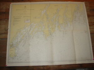 Monhegan Island To Cape Elizabeth Old Working 1948 Nautical Chart Usc