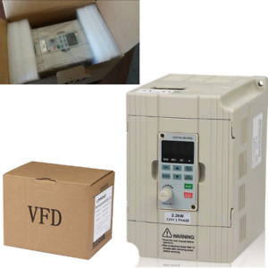 Variable Frequency Drive Motor 2 2kw 220v 3hp Single To 3 Phase 10a Vfd Inverter
