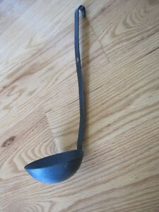 Black Painted Ladle Early American Reproduction