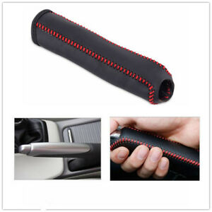 Hand Brake Leather Cover Protective Sleeve Fit For Honda Civic 04 11 Stitching