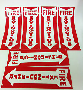 Six Brand New 12x4 Fire Extinguisher Sticker Signs free Shipping