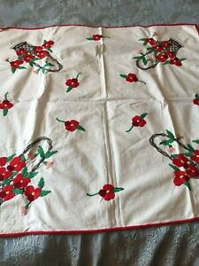 Beautiful Vintage Hand Embroidered Tablecloth