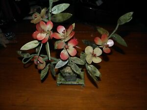 Carved Stone Glass Flowers In Vase Vintage China Nice Quality