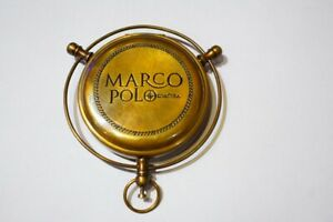 Vintage Nautical Marco Polo Solid Brass Compass Pocket Compass