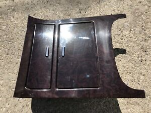 2007 14 Cadillac Escalade Dark Chocolate Wood Grain Center Console Cup Holder
