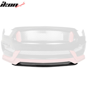 Fits 15 18 Mustang V2 Style Front Bumper Lip Center Piece Carbon Fiber