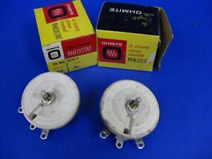 Ohmite 0455 Rheostat Lot Of 2 1 New 1used