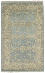 Hand Knotted Floral Oushak Chobi 3x5 Small Indian Area Rug Oriental D Cor Carpet
