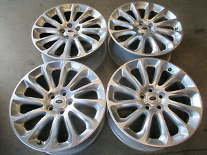 Four 2018 2019 Range Rover Factory 20 Wheels Rims 72317 Oem Jk521007aa
