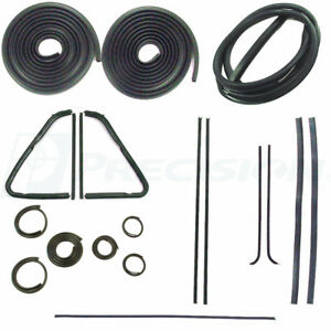 Complete Weatherstrip Seal Kit 1951 53 Chevy Gmc Pickup Truck W Out Chrome Trim