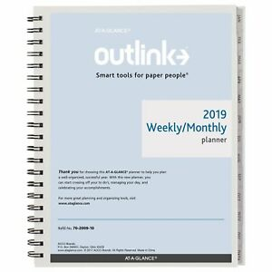 At a glance 2019 Weekly Monthly Refill 8 1 2 X 11 Folio Size 5 Two Pages