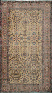 Hand Knotted Turkish Carpet 3 10 X 6 11 Melis Vintage Traditional Wool Rug