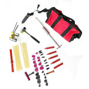 51x Auto Car Body Damage Dent Puller Slide Hammer Paintless Repair Tools Kit