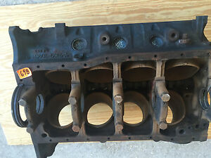 1968 Ford Mustang 302 Engine Block Main Caps Cam Date 9b3 40 Over 68 698