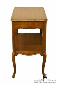 1940 S Antique Solid Walnut Country French Provincial 15 Nightstand Accent