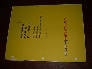 New Holland Ford Sperry 363 367 Spreader Parts Catalog