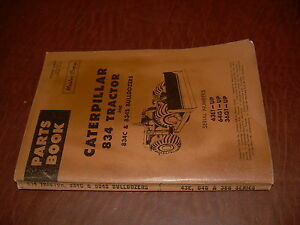 Cat Caterpillar 834 Tractor Wheel Loader Parts Book Catalog S n 36g 64g 43e Used