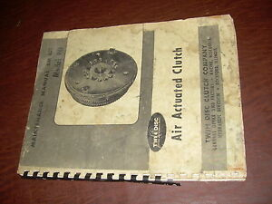 Twin Disc Model Po Air Actuated Clutch Transmission Repair Service Manual