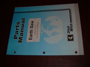 Ditch Witch Earth Saw Parts Catalog Manual