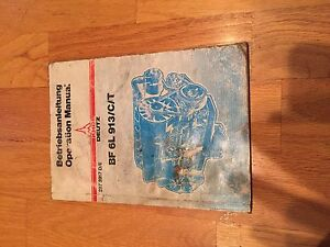 Deutz Bf 6l 913 C T Operation Air Cooled Diesel Engine Manual