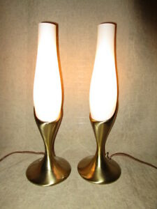 Pair Mid Century Modern Laurel Lamps Rare Original