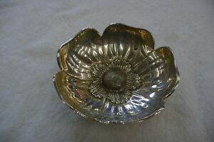 Sterling Silver Flower Dish Bowl 925
