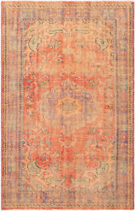 Hand Knotted Turkish 5 9 X 8 10 Anadol Vintage Wool Rug Discounted