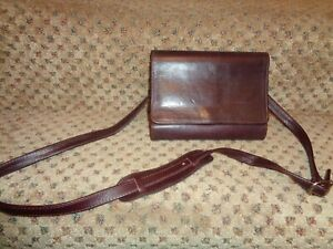 Franklin Quest Covey Usa Dp Burgundy Nappa Leather Pocket Purse Planner Strap