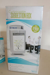 Safco Customizable Suggestion Box 4233gr W Suggestion Cards 2 Keys New