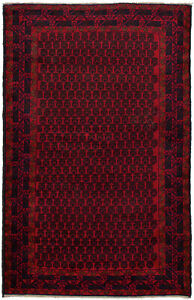 Hand Knotted Carpet 3 6 X 5 11 Traditional Vintage Wool Rug
