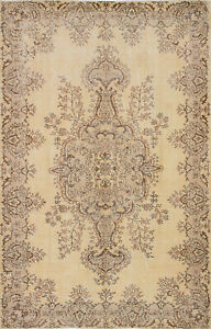 Hand Knotted Turkish 5 9 X 8 11 Antalya Vintage Wool Rug Discounted