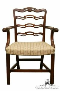 1940 S Antique Vintage Mahogany Duncan Phyfe Ladderback Dining Arm Chair